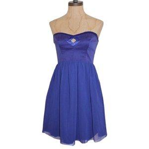 NWT Walter by Walter Baker Purple Bustier Dress